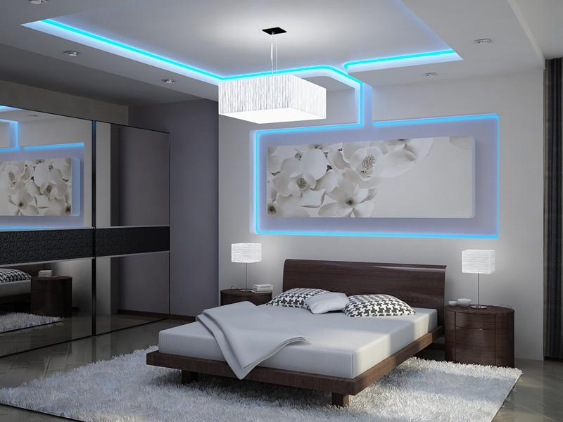 Дюралайт используется для декоративной подсветки потолка