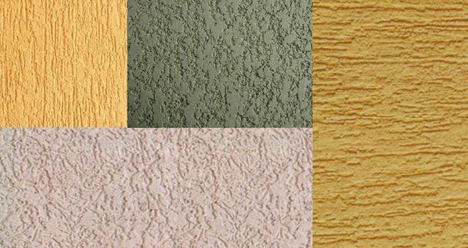 Краски различаются по фактуре благодаря различным добавкам и зернистости