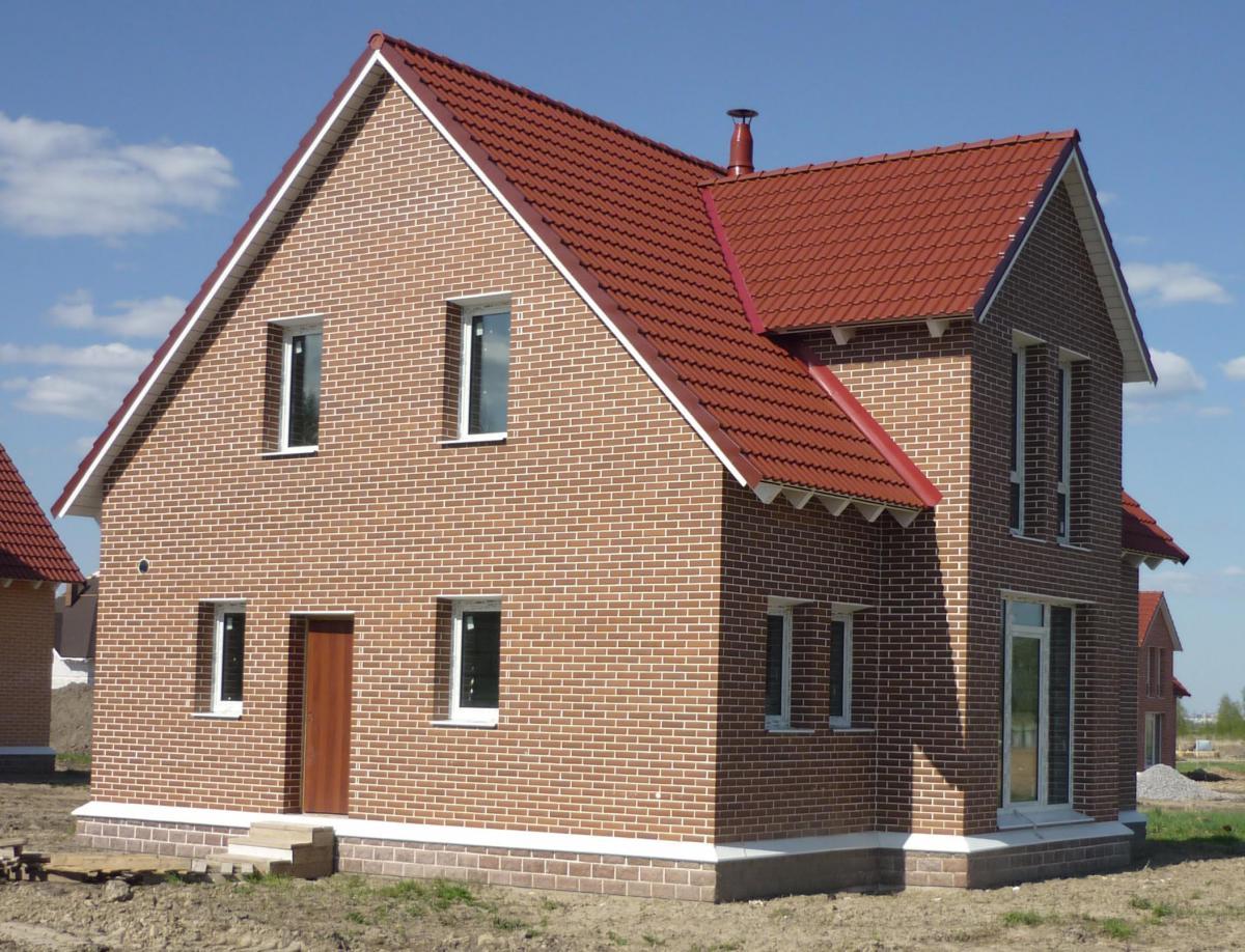 Правильная облицовка частного дома из газобетона кирпичом