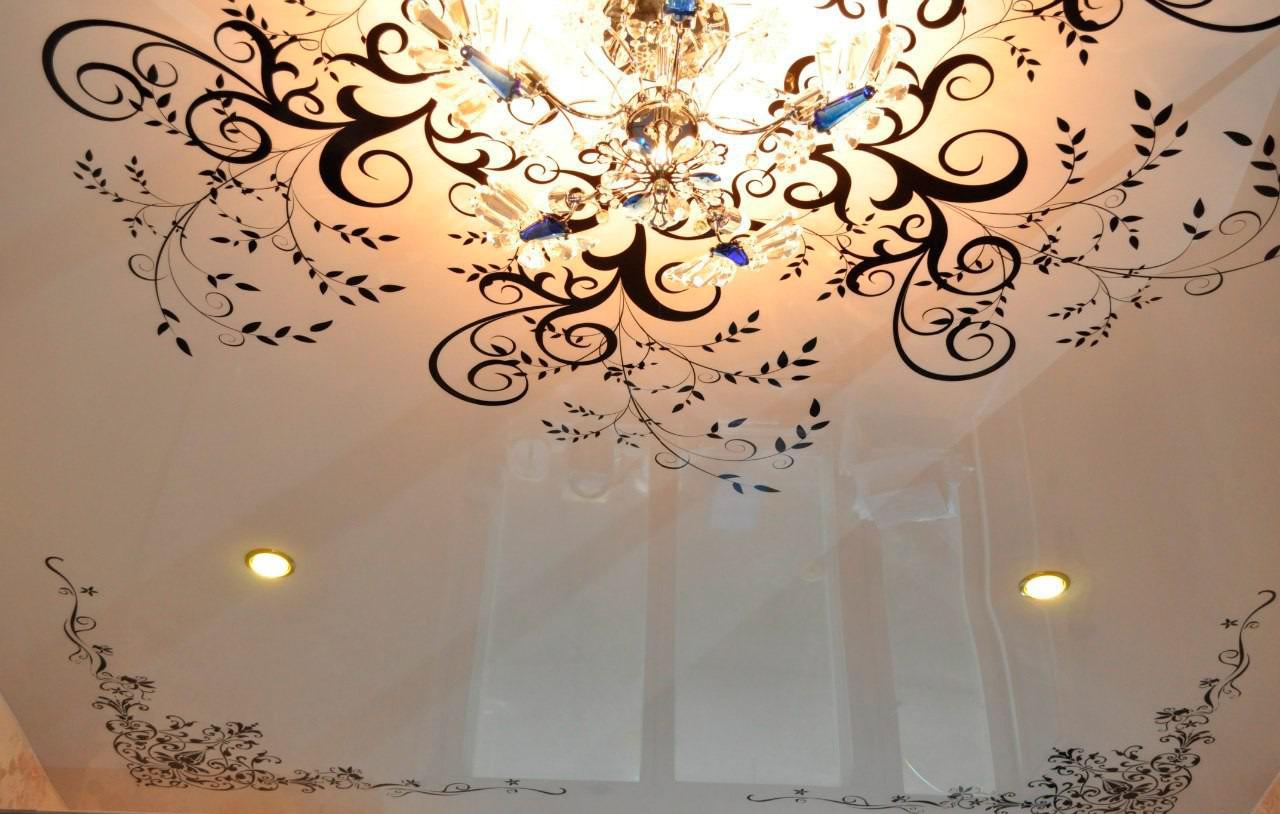 Декоративная фотопечать на потолке