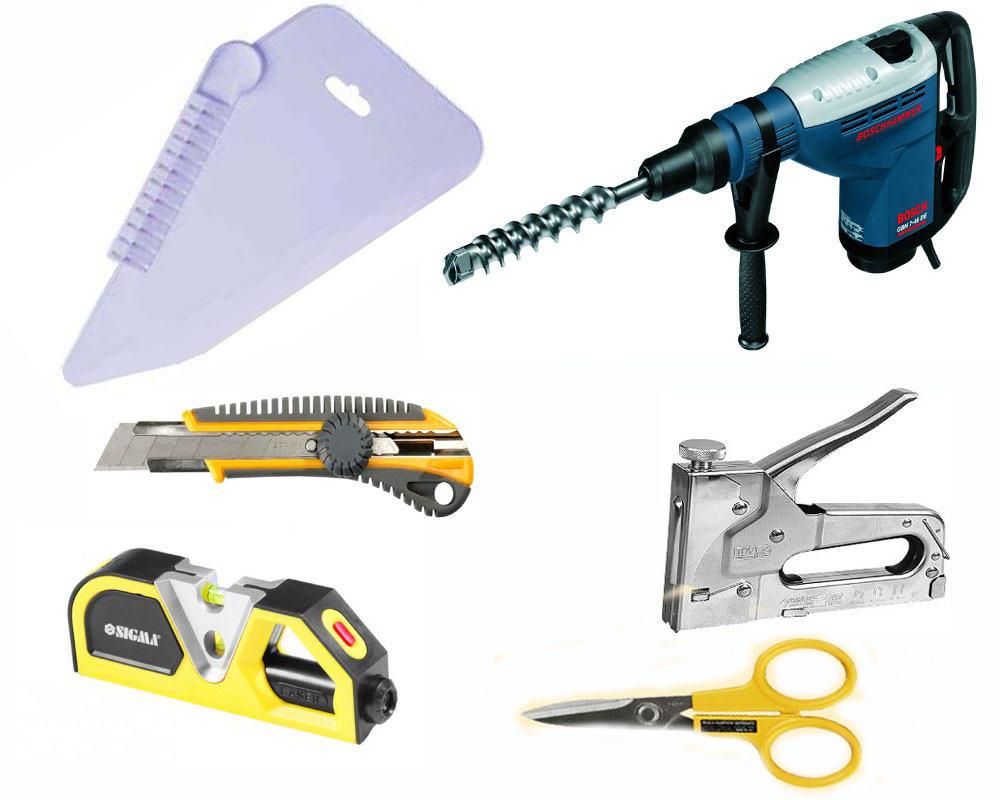 Инструменты для монтажа тканевого потолка