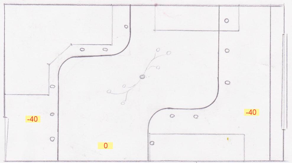 Перед обустройством потолка необходимо нарисовать эскиз. а также нанести разметку будущей конструкции