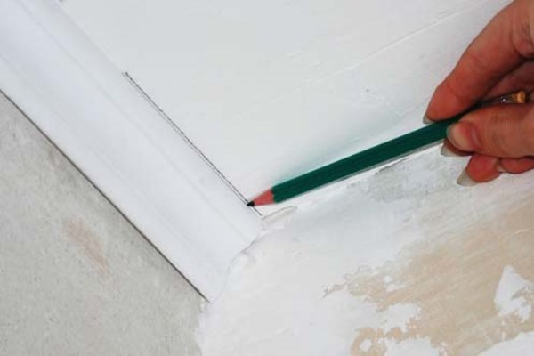 Разметка на потолке для подрезки
