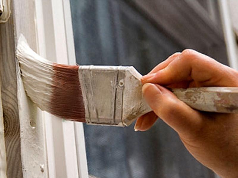 Масляная краска защищает поверхность от влаги