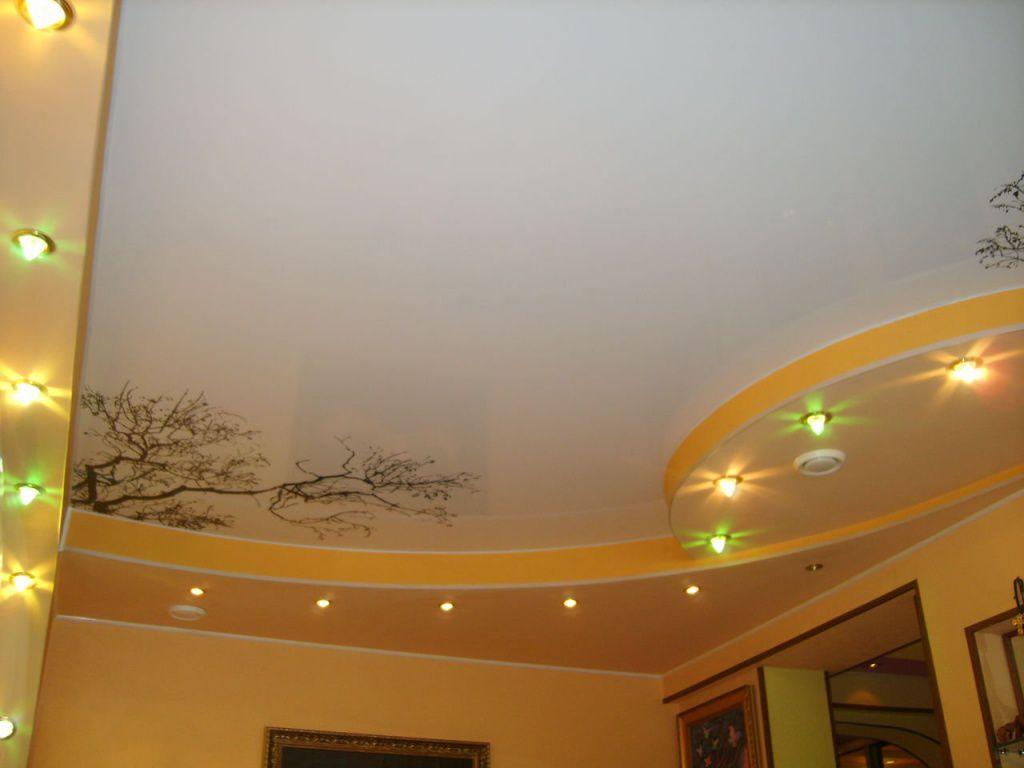 Хорошо красить матовые натяжные потолки из ткани