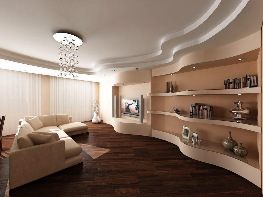 Многоуровневый потолок из гипсокартона украсит любой интерьер