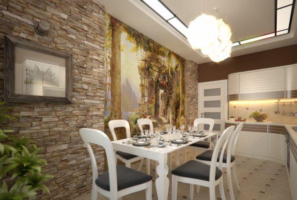 Креативная отделка стен кухни – материалы для работы