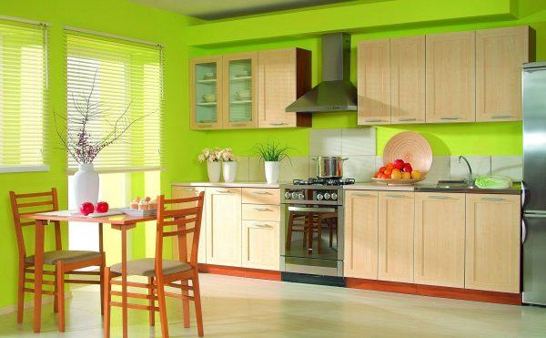 Стены в кухне – окрашивание