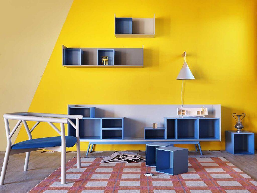 Крашенные стены - практичный вариант детской комнаты или кухни