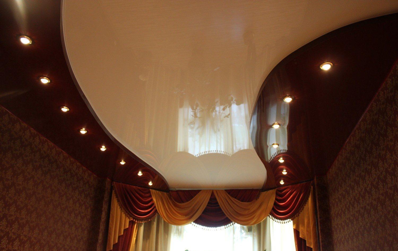 Подвесной потолок в два уровня
