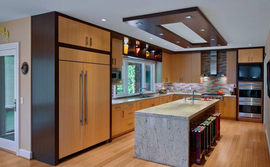 Потолок из гипсокартона можно сделать любой конструкции