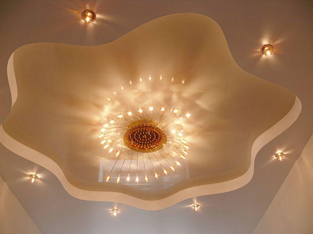 Потолок из гипсокартона при небольшой подготовке можно выполнить своими руками