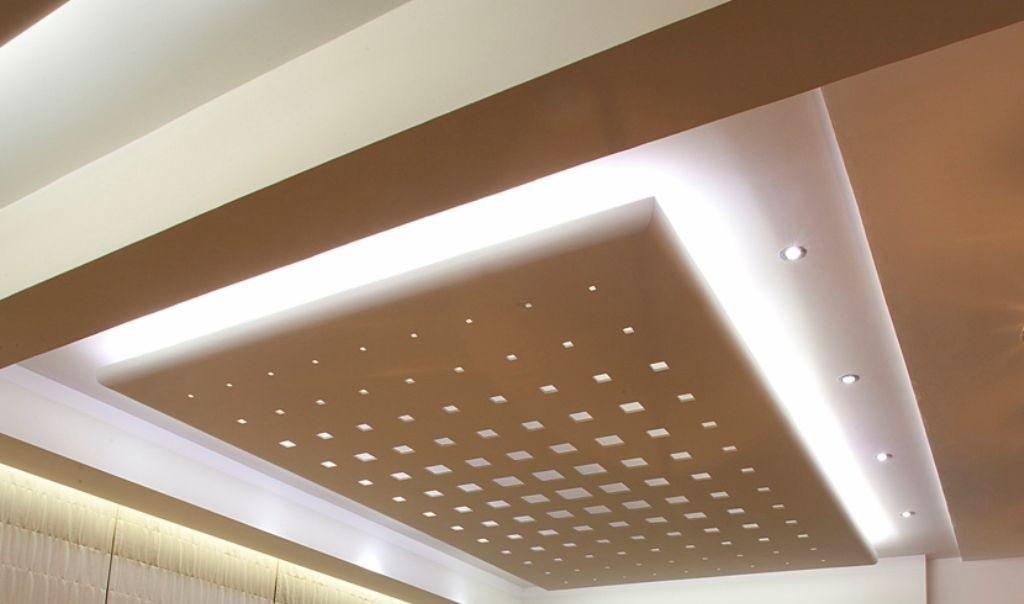 Потолок с перфорацией из гипсокартона
