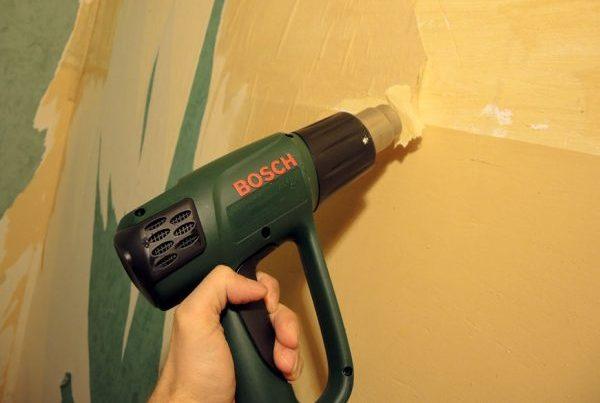 Удаление краски со стены
