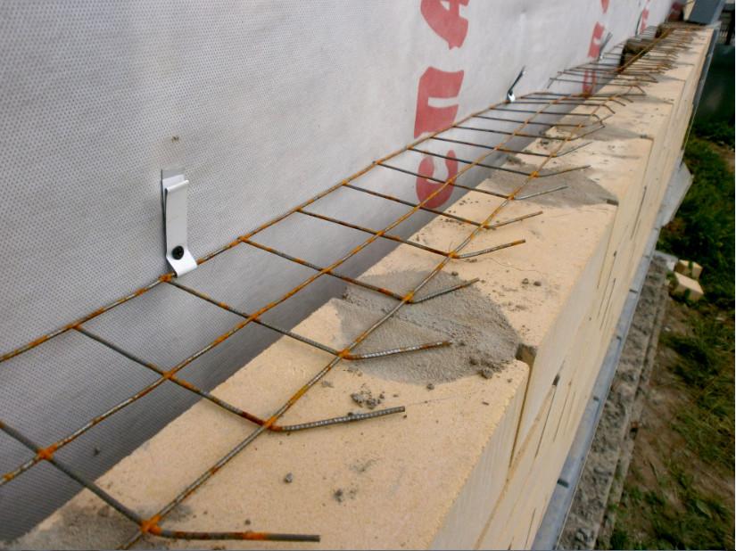 Усиление конструкции из облицовочного кирпича