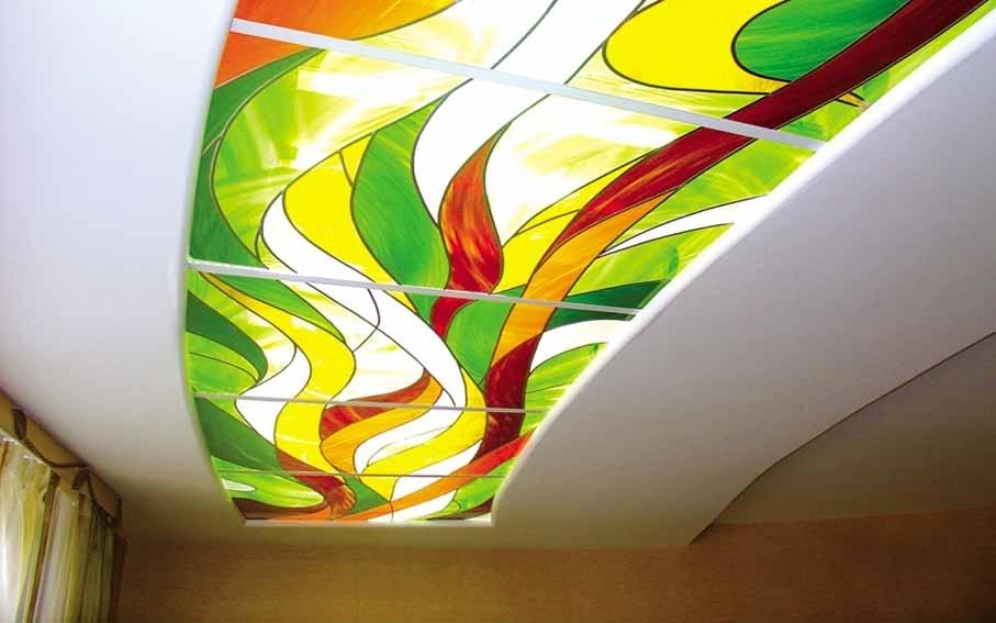 Витражный акриловый потолок