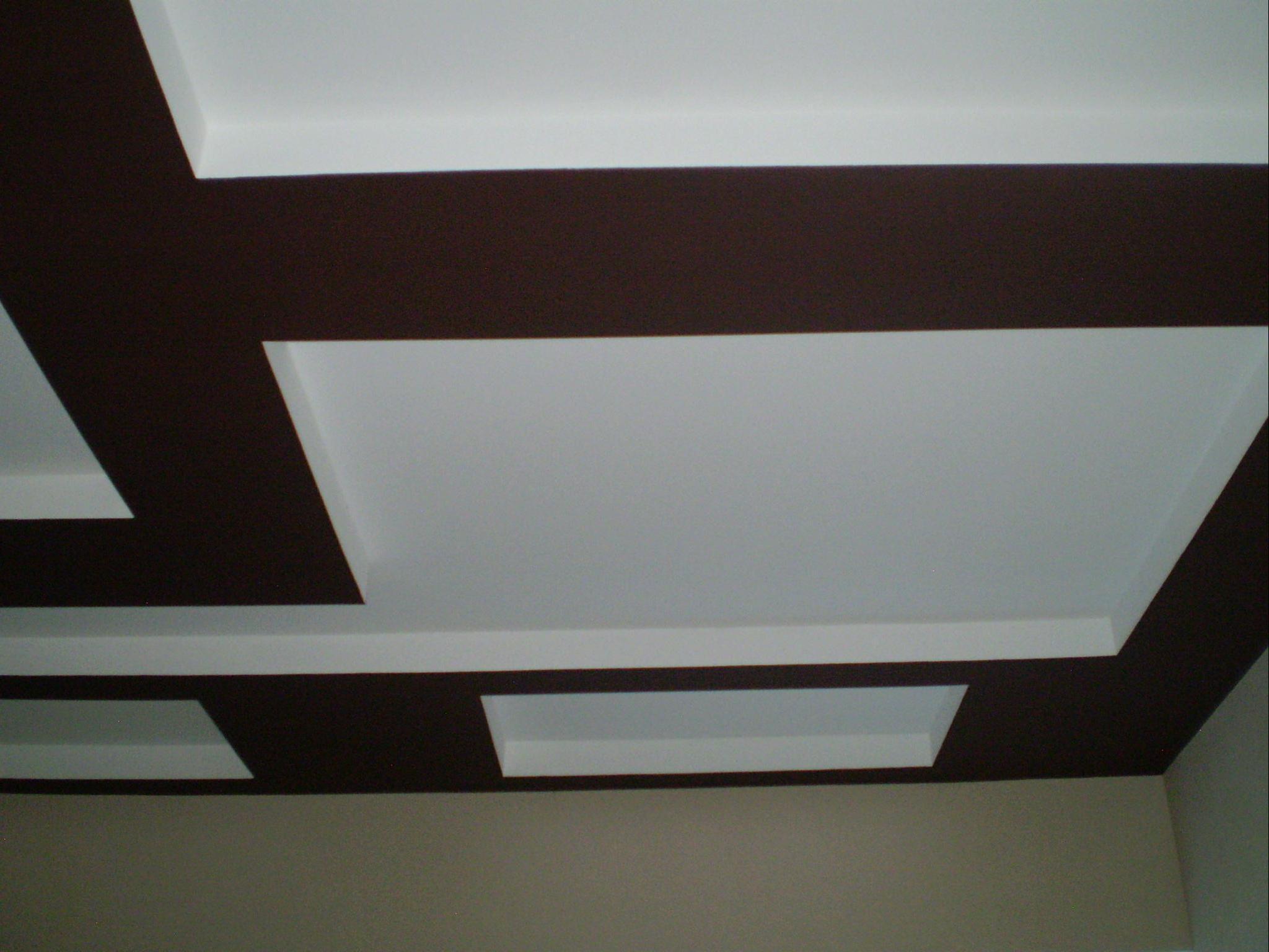 Потолок можно покрасить