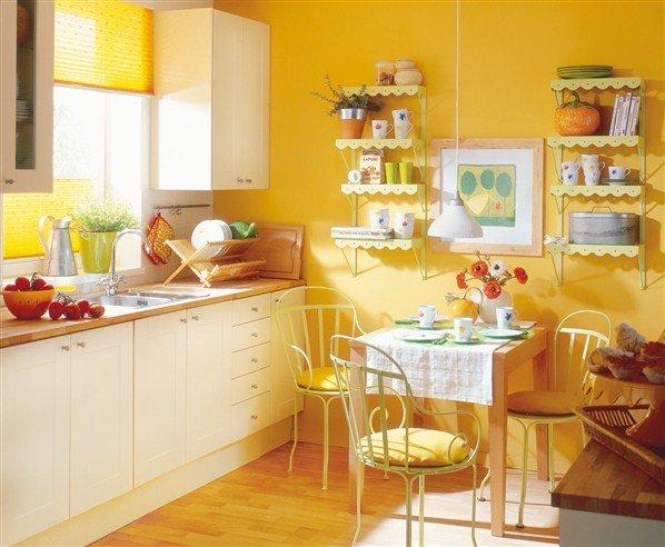 Алкидная краска для кухни имеет стойкий цвет
