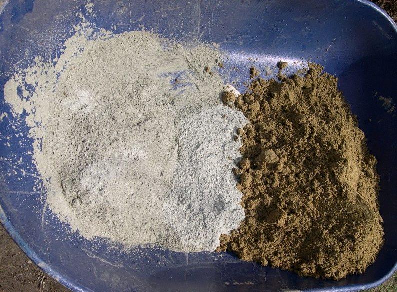 Соотношение песка к цементу должно составлять 1:3