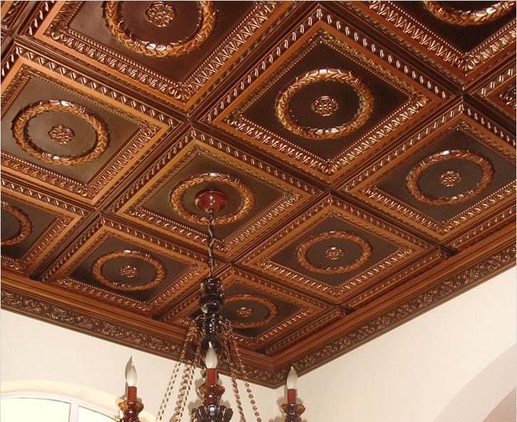 Деревянная плитка для потолка