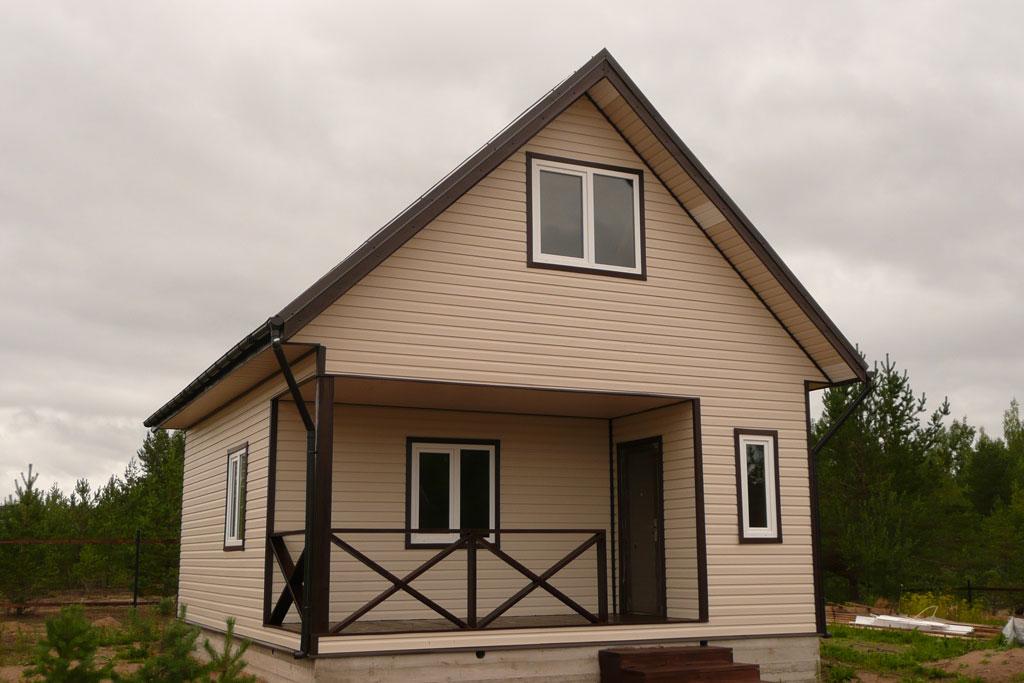 Облицовка дома из бруса сайдингом