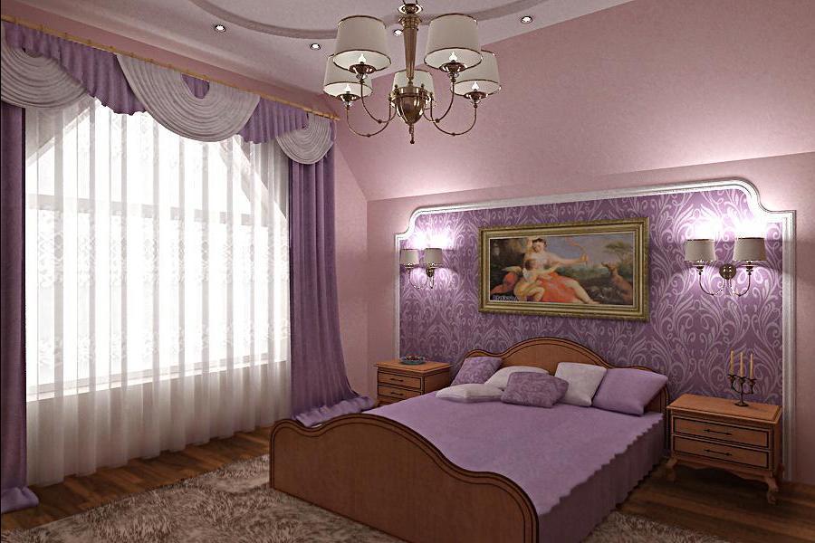 Для создания уютной спальни необходимо правильно выбрать обои