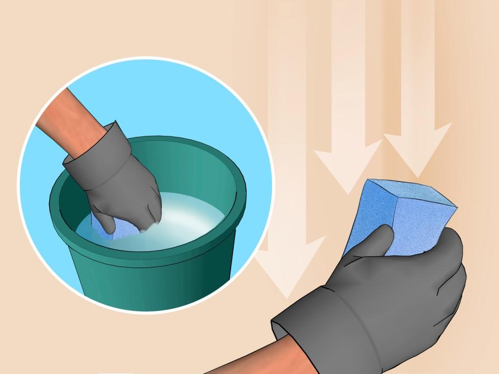 Моющиеся обои можно очистить при помощи воды с добавлением средств для посуды
