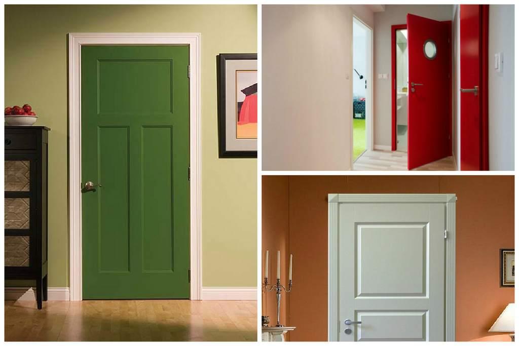 Для обновления двери можно покрасить ее