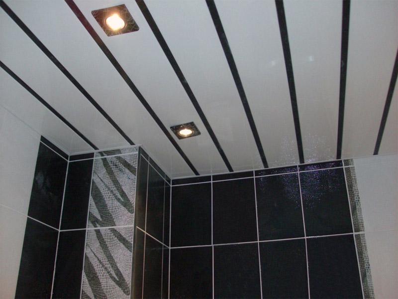 Реечный потолок хорошо отмывается