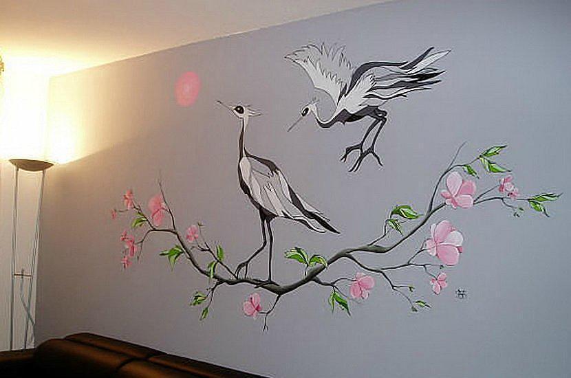 Рисунок на стене своими руками