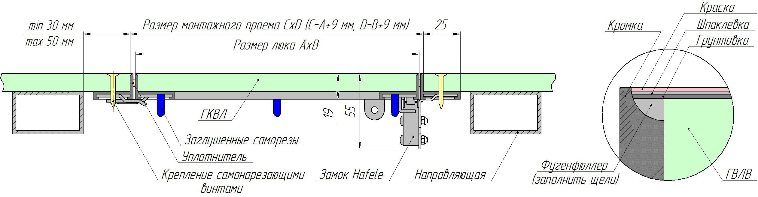 Схема люка