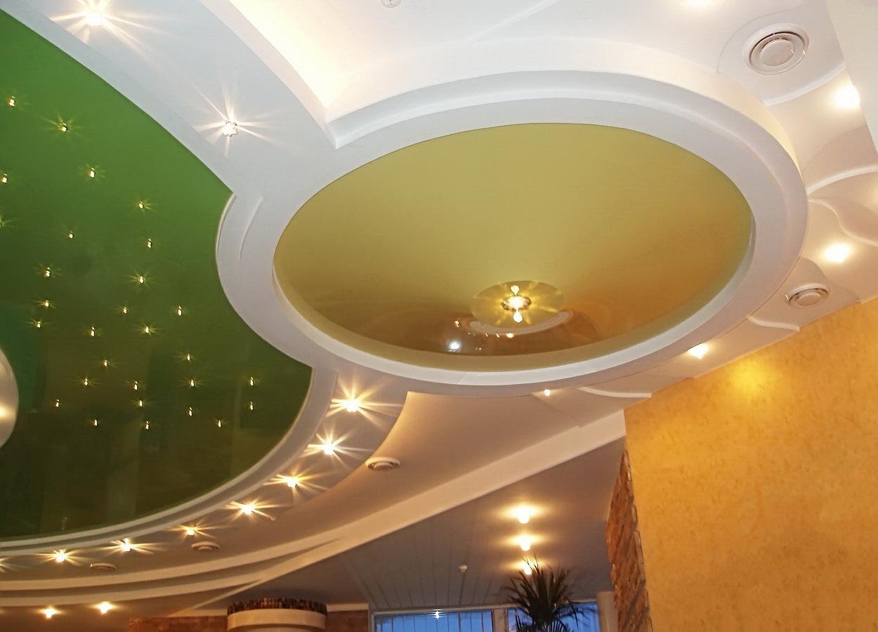 виды светодиодных светильников для натяжных потолков