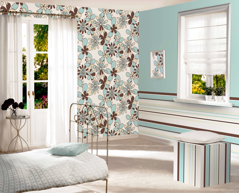 При помощи комбинирования обоев можно создать неповторимый дизайн комнаты