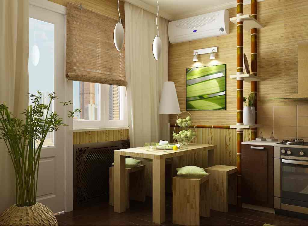 В качестве альтернативы можно использовать бамбуковые обои