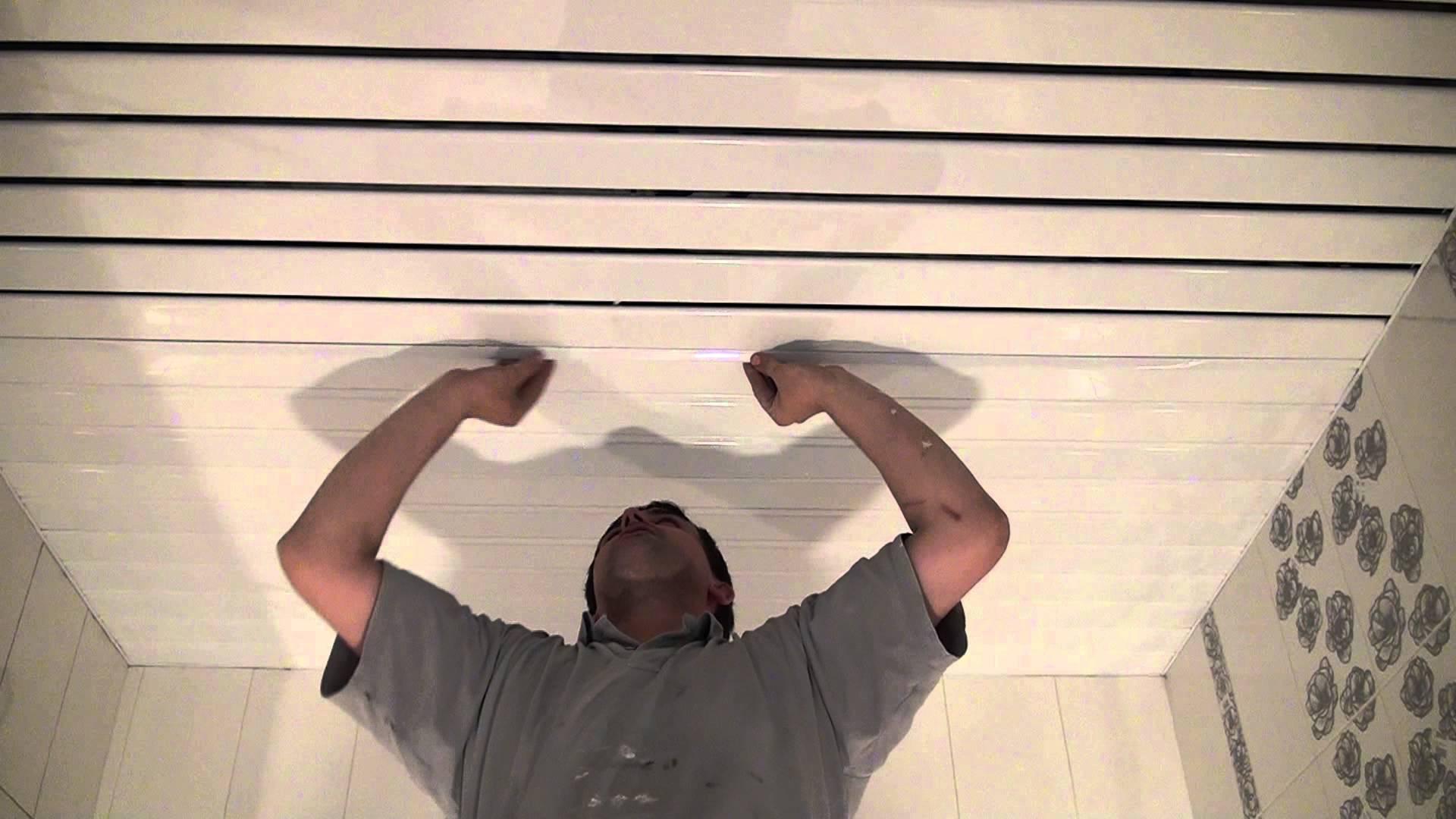 Монтаж металлических вставок в реечный потолок