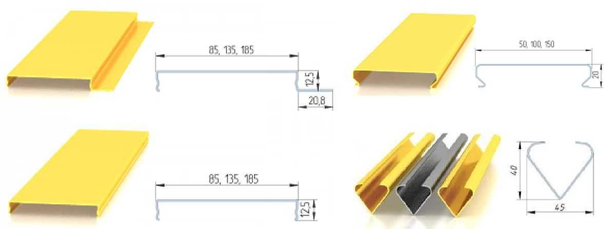 Расчет производится в зависимости от выбранной ширины реек