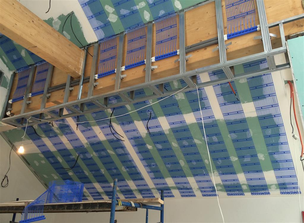 Система холодного потолка довольно сложна для самостоятельной установки