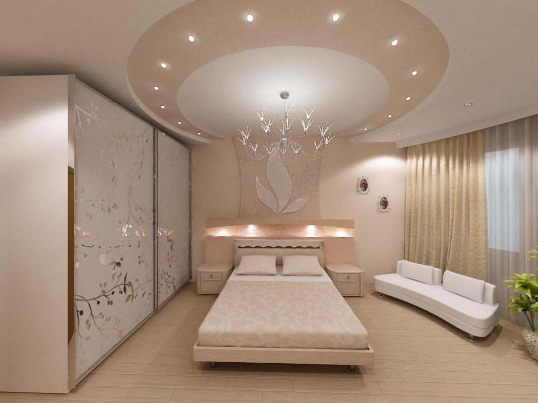 Закругленный потолок из гипсокартона