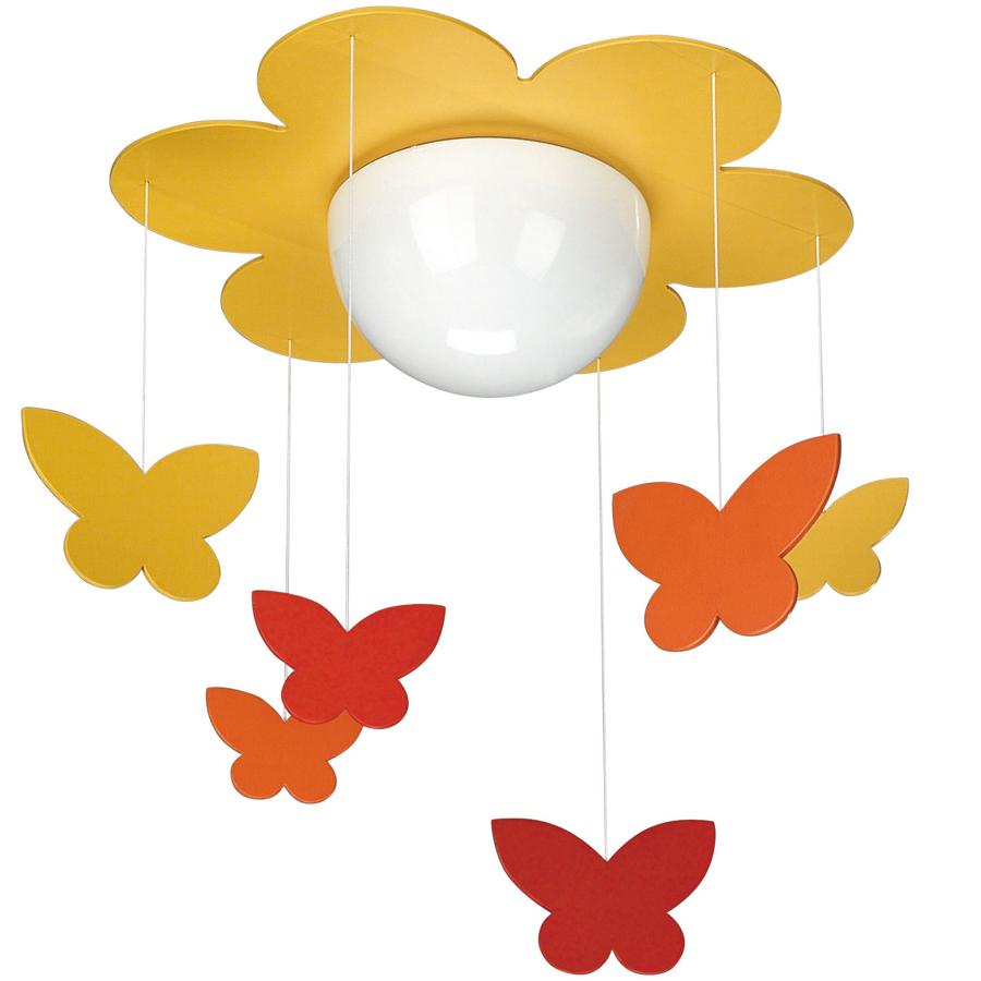 Люстра-цветок с бабочками