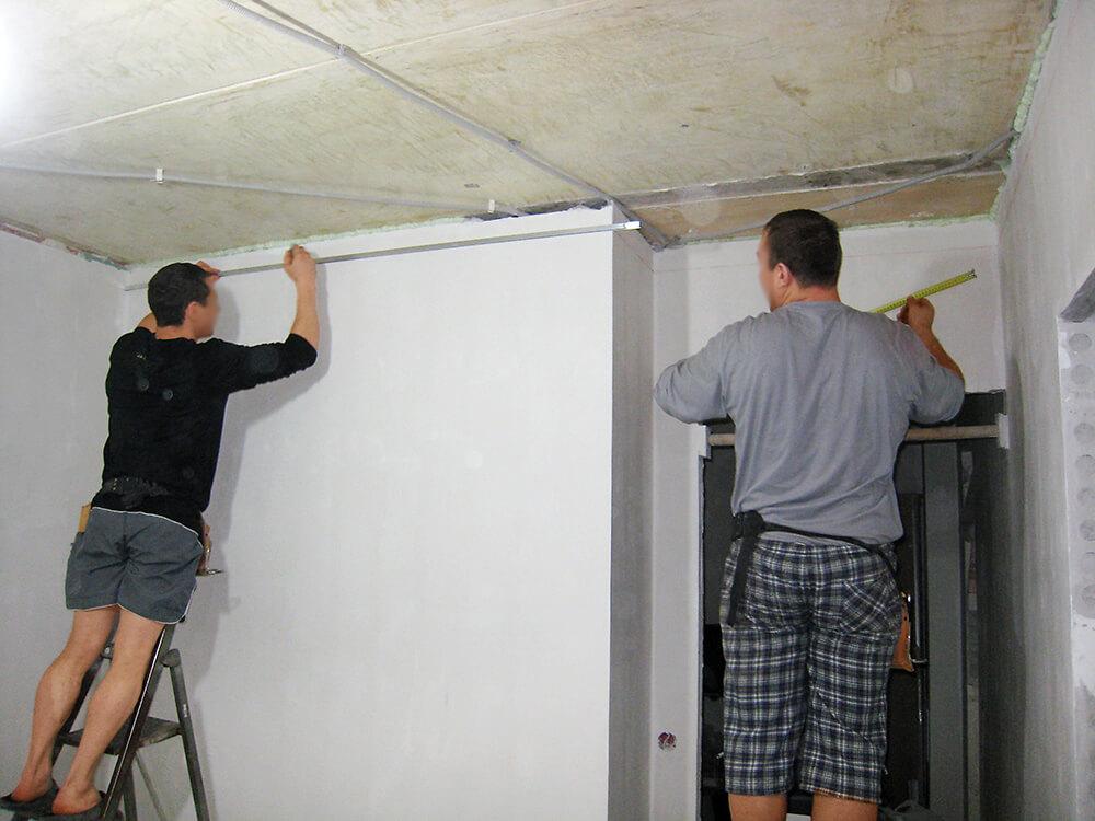Монтаж натяжного потолка на подготовленную поверхность