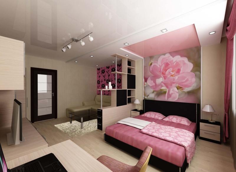 Несколько источников света в спальне