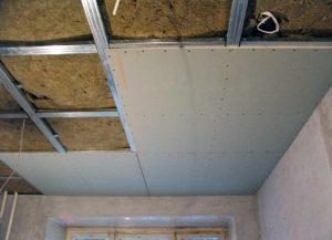 Как выровнять потолок гипсокартоном?