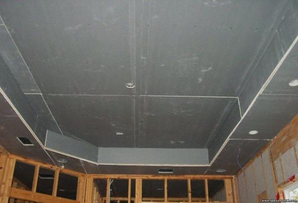 Пошаговая обшивка потолка гипсокартоном
