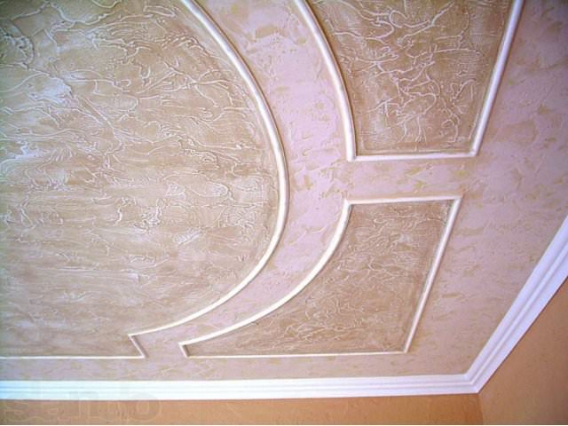 Декорирование потолков штукатуркой
