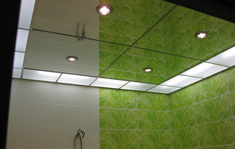 Освещение зеркального потолка