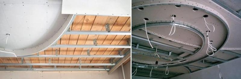 потолок второго уровня из гипсокартона