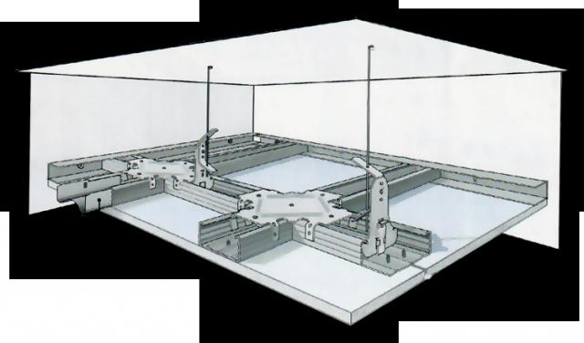 гипсокартонный потолок подвесы