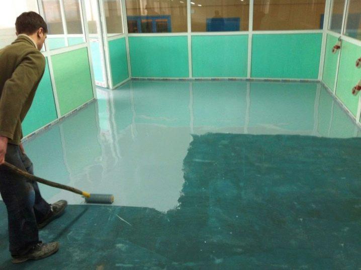 Полиуретановая эмаль для бетонного пола в гараже