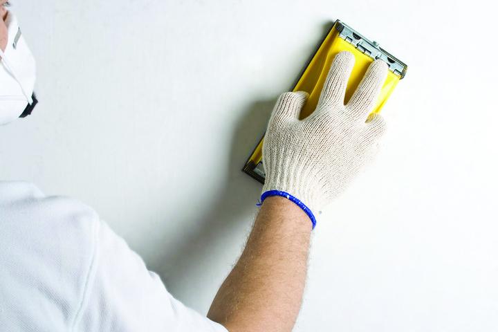 шлифование стен перед покраской