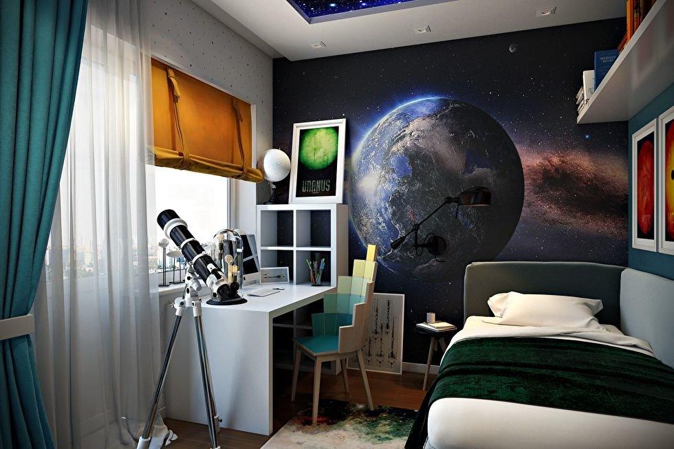 Космос обои для комнаты мальчика-подростка